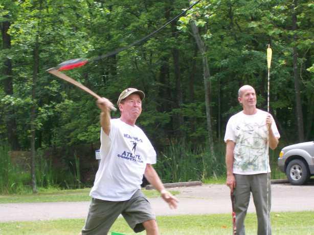 Rick's 40 Yard Throw Flint Ridge Ohio 7-19-09a